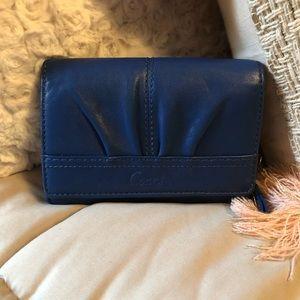 Authentic Royal Blue Coach Wallet